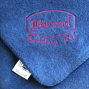Beval Saddlery equestrian soft navy throw blanket